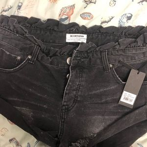 One teaspoon shorts blue jean black size 29